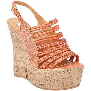 Steve Madden Geteven Orange Platform Sandals Wedge